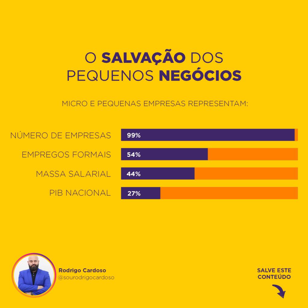 Gráfico de participação do empreendedor na economia brasileira